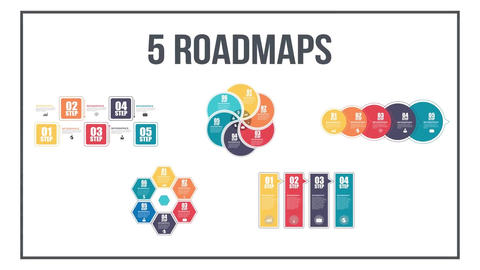 Infographics timeline set three After Effects Template