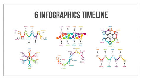 6 infographics timeline After Effects Template