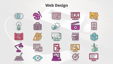 Web design mogrt icons モーショングラフィックステンプレート
