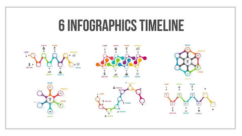 6 infographics timeline mogrt Motion Graphics Template