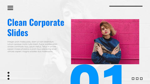 Clean Corporate Slides After Effects Template