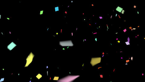 4K Falling Confetti with Alpha Matte Channel Animation