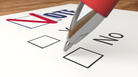 Vote against by marks cross X in poll, ballot voting and elections animation Animation
