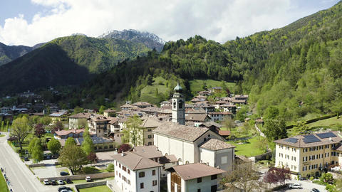 The Improbable aerial landscape of Molveno, is a comune in Trentino in the Live Action