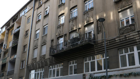 Socialist Era Architecture and Buildings in Belgrade Downtown Live Action