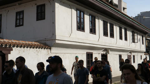 Ottoman era house structure now museum of linguist Karadzic and poet Obradovic Live Action