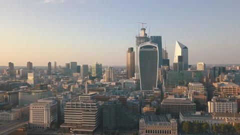 AERIAL: Flight towards London Skyline at Sunshine Live Action