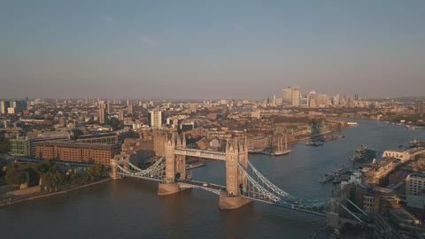 AERIAL: Flight towards The Shard, London Skyline at Sunshine Live Action
