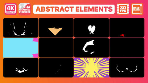 Abstract elements and Titles Plantilla de After Effects