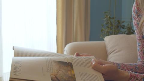 The couple quarrels, husband snatches a magazine Live Action