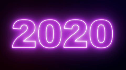 2020 with neon illumination. The new decade Live Action