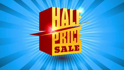 good deal sale art design with golden diagonal 3d typography over divine like lightning giving Animation