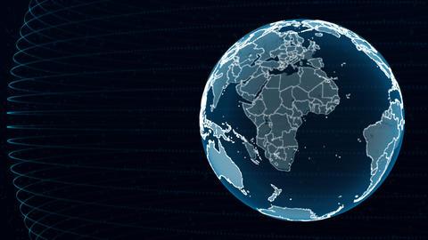 Earth Globe Animation