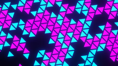 Purple Blue Abstract Blink or Twinkle Triangle Rotate on Black Background Animation