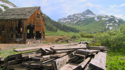 Time lapse shot of an abandoned mine in the Colora Stock Video Footage