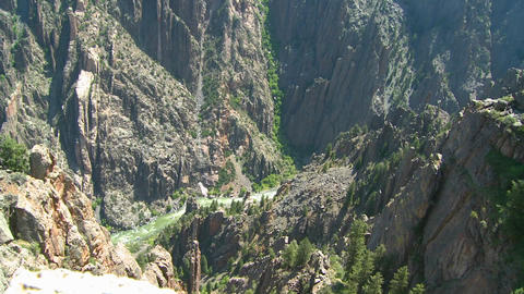 A deep canyon in the Gunisson Stock Video Footage