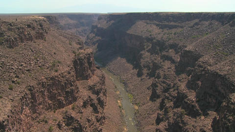 The Rio Grande River snakes through a New Mexico c Stock Video Footage