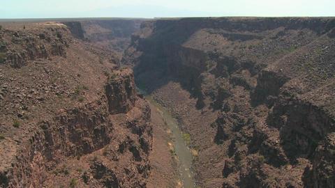 The Rio Grande River snakes through a New Mexico c Footage