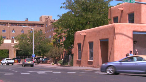 An establishing shot of Santa Fe, New Mexico Stock Video Footage