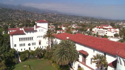 A high angle view over Santa Barbara, California Stock Video Footage