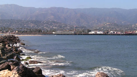 Waves break along the southern california coast, a Stock Video Footage