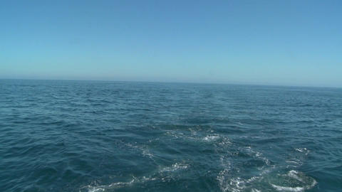 A shot of the open ocean Stock Video Footage