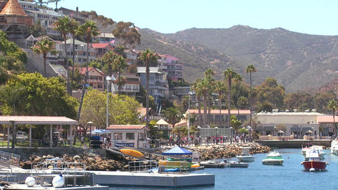 Establishing shot of catalina Island Footage
