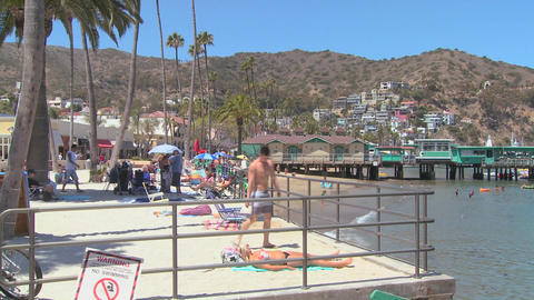 The beachfront at Catalina Island resort in Southe Footage