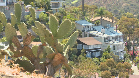 A house on a Southern California hillside features Stock Video Footage