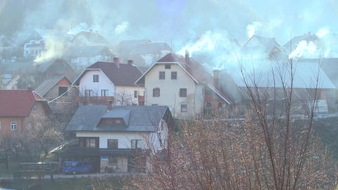 Villages in Eastern Europe pollute the environment Stock Video Footage
