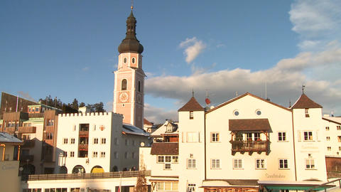 A snowbound village in the Alps in Austria, Switze Stock Video Footage