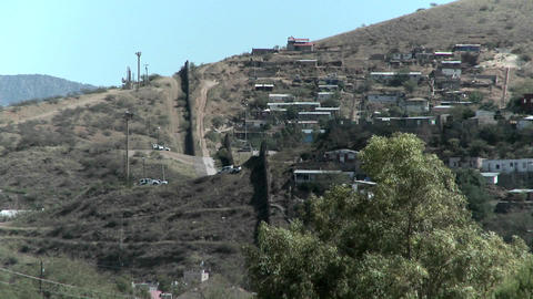 A landscape view of a hilltop community separated with a... Stock Video Footage