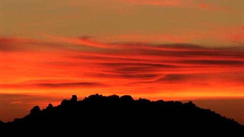The sun has just set on the horizon Stock Video Footage