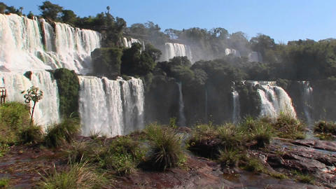 Iguacu Falls on the border of Brazil and Argentina Footage
