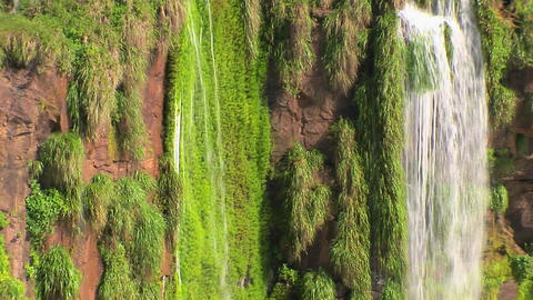 Zoom out from Iguacu Falls in Argentina reveals many... Stock Video Footage