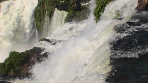 A perspective looking over the edge of a waterfall Stock Video Footage