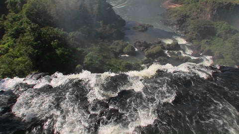A moving perspective looking over the edge of a... Stock Video Footage