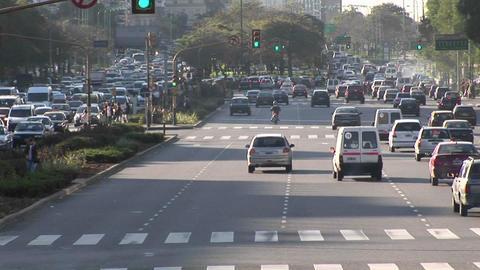 Buenos Aires, Argentina capitol Nuevo de Julio with... Stock Video Footage