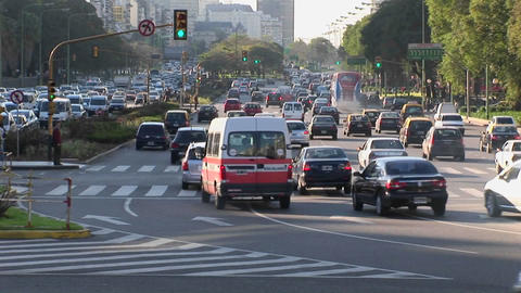 Buenos Aires, Argentina capitol Nuevo de Julio... Stock Video Footage