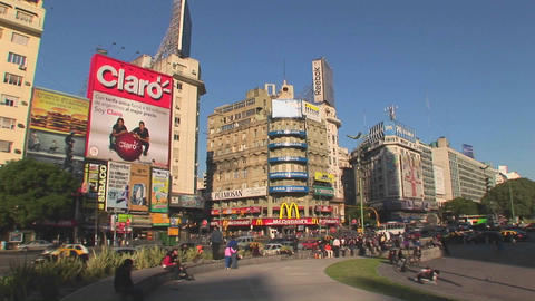 Buenos Aires, Argentina capitol Nuevo de Julio buildings Stock Video Footage