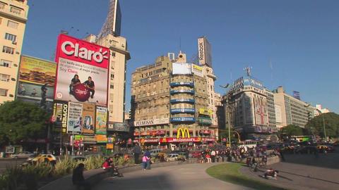 Buenos Aires, Argentina capitol Nuevo de Julio buildings Footage