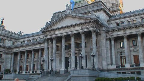 Buenos Aires, Argentina capitol buildings Congresso de... Stock Video Footage