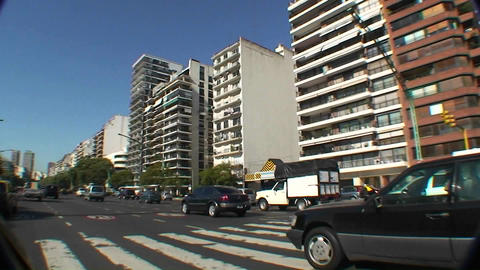 Buenos Aires, Argentina traffic from vehicle with pov... Stock Video Footage