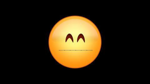 Grimacing Emoji Animated Loops with Alpha Channel Animation