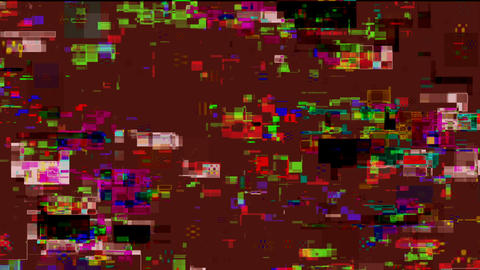 Noise Glitch Video Damage On Pink Abstract Background Animation