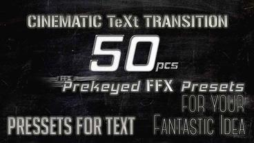 Cinematic Text Transition ( PRESETS FOR AFTER EFFECTS) After Effectsテンプレート