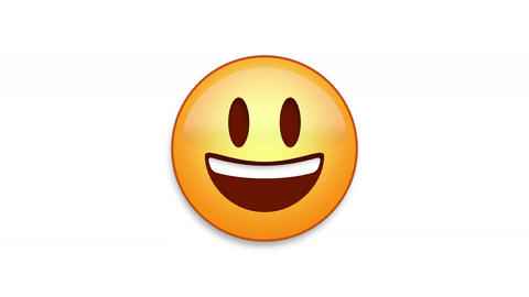 Bright Smile Emoji Animated Loops with Luma Matte Animation