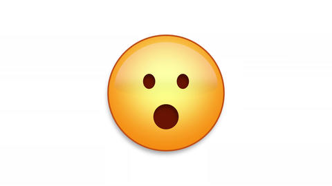 Shocked Emoji Animated Loops with Luma Matte Animation