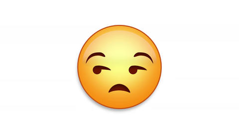 Unimpressed Emoji Animated Loops with Luma Matte Animation
