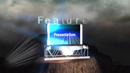 Film Feature Presentation Credit on Animated Mountain Animation